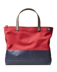 Jack Spade Dipped Coal Tote Bag Red Dark Navy