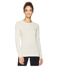 Smartwool Nts Mid 250 Crew Top Moonbeam Heather Long Sleeve Pullover White