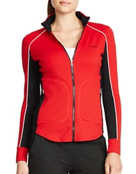 Lauren Ralph Lauren Stretch Track Jacket Red
