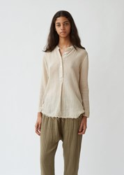 Raquel Allegra Perfect Cotton Henley Sand