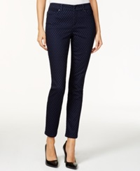 Charter Club Skinny Ankle Jeans Iconic Print