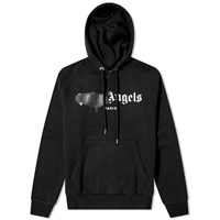 Palm Angels Paris Sprayed Logo Hoody Black