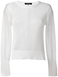 Unconditional Cable Knit Jumper White