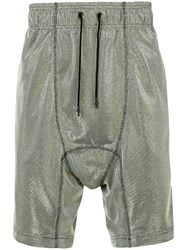 Tom Rebl Metallic Woven Drop Crotch Shorts