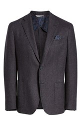 Culturata Trim Fit Check Wool Blend Sport Coat Dark Purple