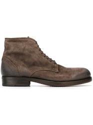 Pantanetti Lace Up Boots Brown