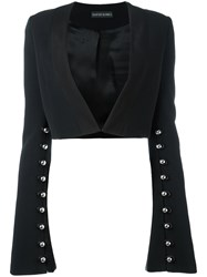 David Koma Studded Bolero Blazer Black
