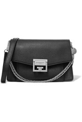 Givenchy Gv3 Small Textured Leather Shoulder Bag Black Gbp