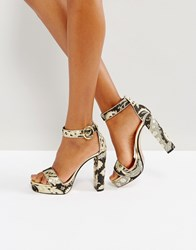 Ted Baker Jewll Ornate Paisley Platform Sandals Multi