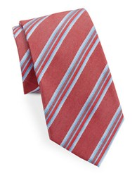 Vince Camuto Asymmetrical Striped Tie Red