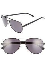 Boss Men's '0761 S' 60Mm Polarized Aviator Sunglasses Matte Black