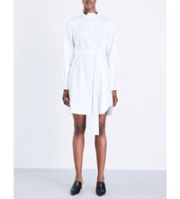 Opening Ceremony Ruffle Collar Stretch Cotton Dress White