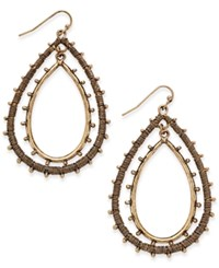 Inc International Concepts Gold Tone Wire Wrapped Nested Teardrop Earrings Only At Macy's
