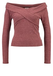 Noisy May Nmmasha Long Sleeved Top Fired Brick Dark Red