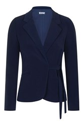 Wal G Wrapover Blazer By Navy Blue