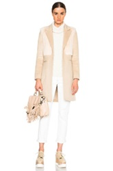 Mason By Michelle Mason Goat Fur Coat In Neutrals