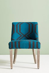 Anthropologie Jorie Dining Chair Turquoise