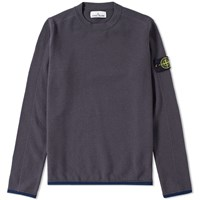 Stone Island Logo Patch Crew Knit Grey