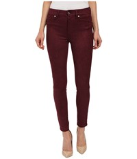 7 For All Mankind High Waist Ankle Knee Seam Skinny In Merlot Merlot Women's Jeans Red