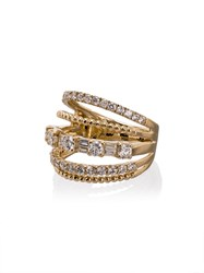 Shay 18Kt Yellow Gold Closed Mixed Diamond Ring Metallic