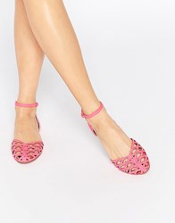 Asos Jacqui Two Part Stud Shoes Pink