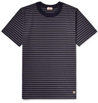 Armor Lux Striped Cotton Jersey T Shirt Navy