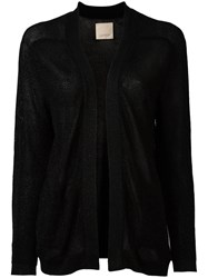 Laneus Open Front Cardigan Black