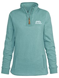 Fat Face Aloa Half Neck Sweatshirt Aqua