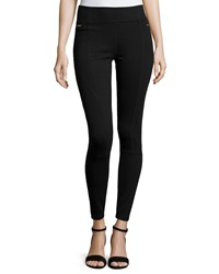 Romeo And Juliet Couture Ponte Leggings With Zip Pockets Black