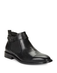 Kenneth Cole Sum Times Leather Chelsea Boots Black