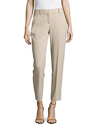 Theory Testra Solid Straight Leg Dress Pants Classic Khaki