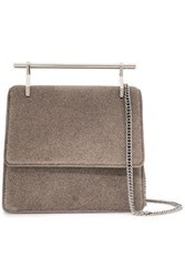 M2malletier Woman Collectionneuse Glittered Leather Clutch Mushroom