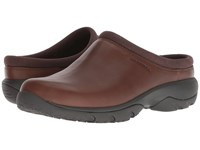 Merrell Encore Rexton Moc Leather Ac Dark Earth Slip On Shoes Brown