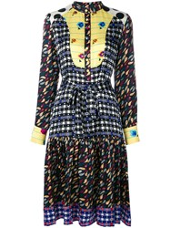 Duro Olowu Patterned Long Sleeved Dress Silk