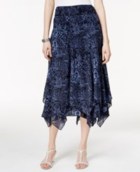 Styleandco. Style And Co. Printed Pull On Skirt Only At Macy's Yankee Flower Blue