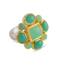 Emma Chapman Jewels Magdalene Chrysophase Cocktail Ring Green