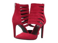 Bcbgeneration Chellsea Holiday Red Lux Kid Suede Women's Shoes