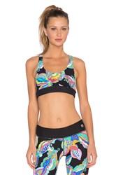 Trina Turk Sea Garden Reversible Sports Bra Black