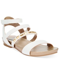 Easy Spirit Cressia Flat Sandals Women's Shoes White