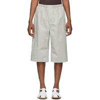 Christophe Lemaire Grey Sunspel Edition Twill Shorts