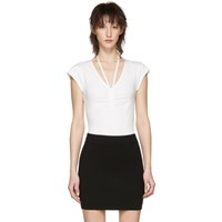 Alexander Wang T By Off White Compact Ruched Bodysuit
