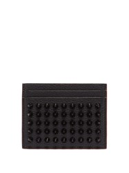 Christian Louboutin Kios Cone Stud Leather Cardholder Black