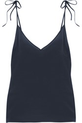 Araks Lewis Washed Silk Crepe De Chine Camisole Midnight Blue