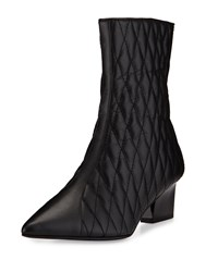 Adrianna Papell Marci Quilted Leather Bootie Black