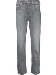 Mother The Tomcat Ankle Jeans Grey