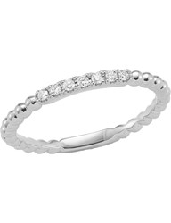 The Alkemistry Diamond Band 14Ct White Gold Ring