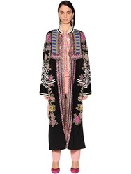Etro Lame And Knit Jacquard Lightweight Coat