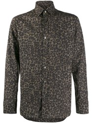 Tom Ford Leopard Print Shirt Green