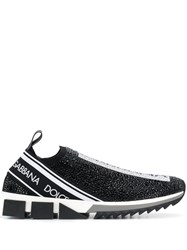 Dolce And Gabbana Low Top Logo Sneakers Black