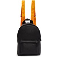 Heron Preston Black Mini Leather Backpack